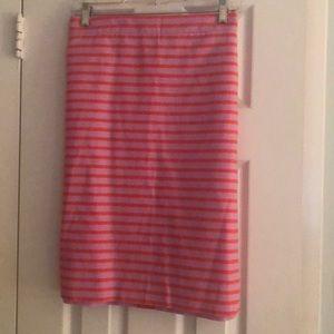 NWT J Crew Lilac and Orange Stripe Skirt